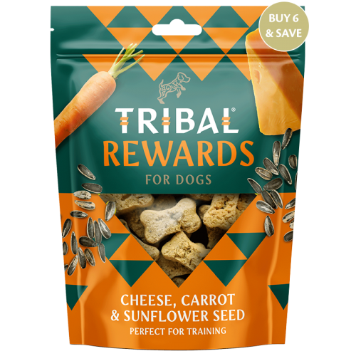 TRIBAL TREAT CHEESE, CARROT & SUNFLOWER SEED 130GR